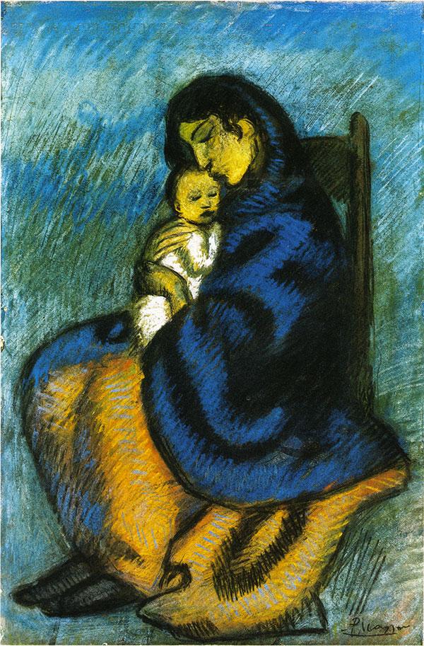 Tableau de sainteté - Charles Cros 14-Picasso-femmeetenfant-copyrightPicassoAdministration